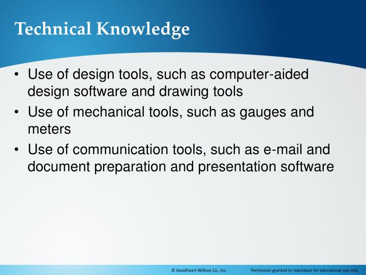 Technical Knowledge