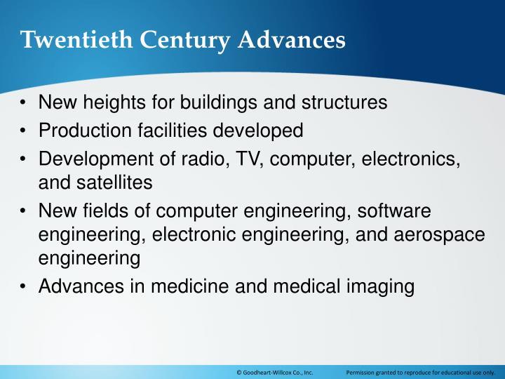 Twentieth Century Advances