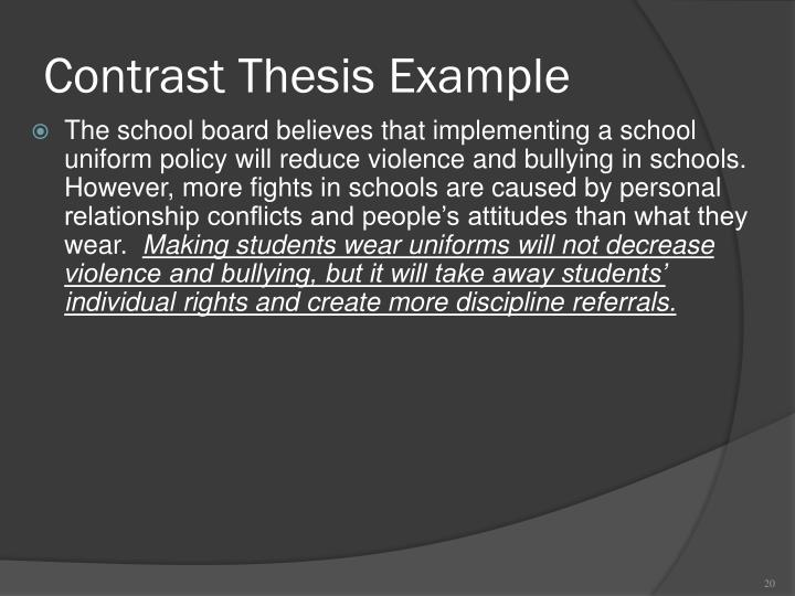 Contrast Thesis Example