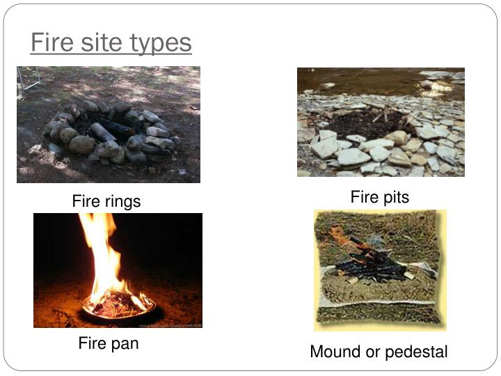 Fire site types