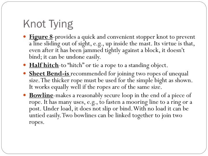 Knot Tying