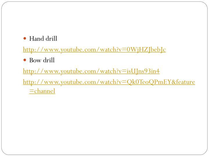 Hand drill