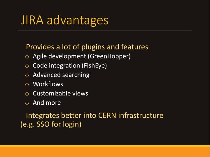 JIRA advantages