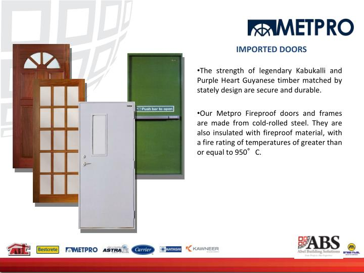 IMPORTED DOORS