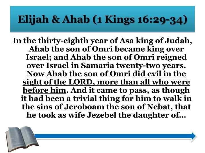 Elijah & Ahab (1