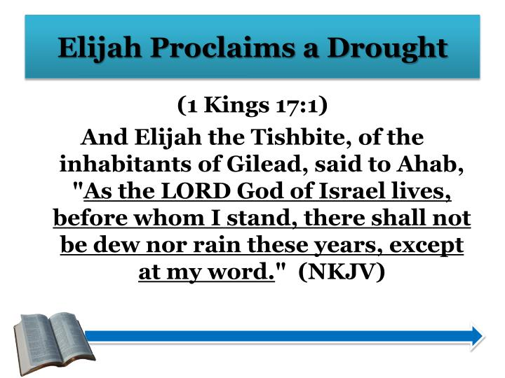 Elijah Proclaims a Drought