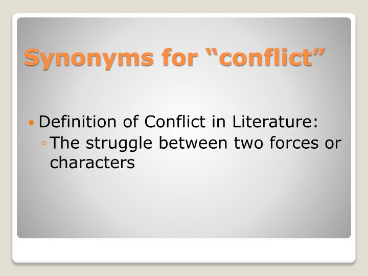 Synonyms for conflict