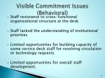 visible commitment issues behavioral