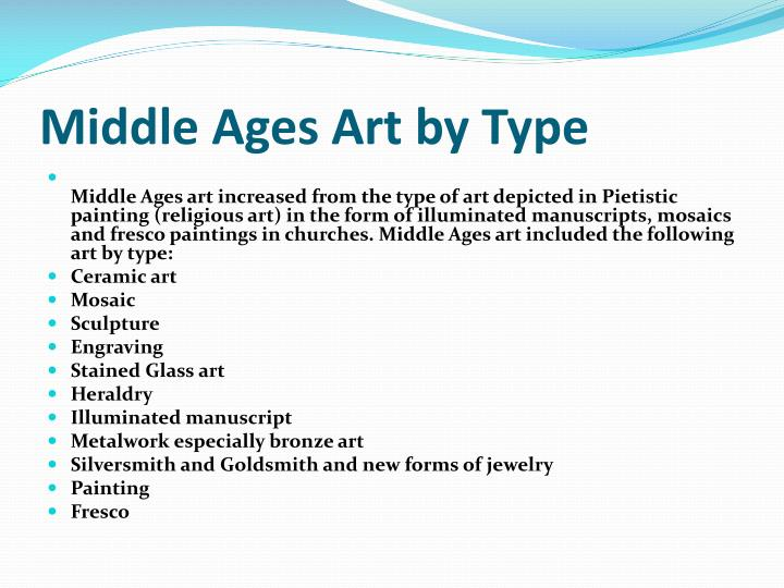 Middle Ages Art by Type