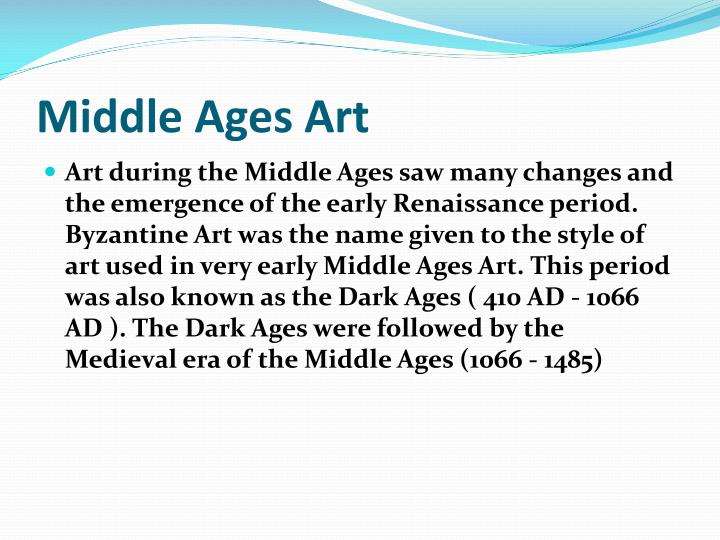 Middle ages art