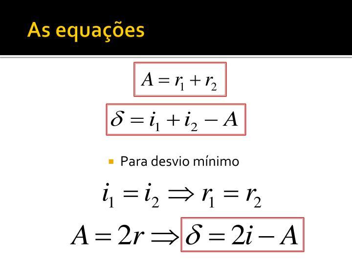 As equações