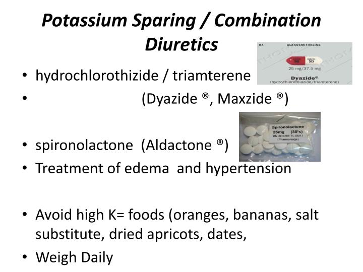 Potassium Sparing / Combination Diuretics