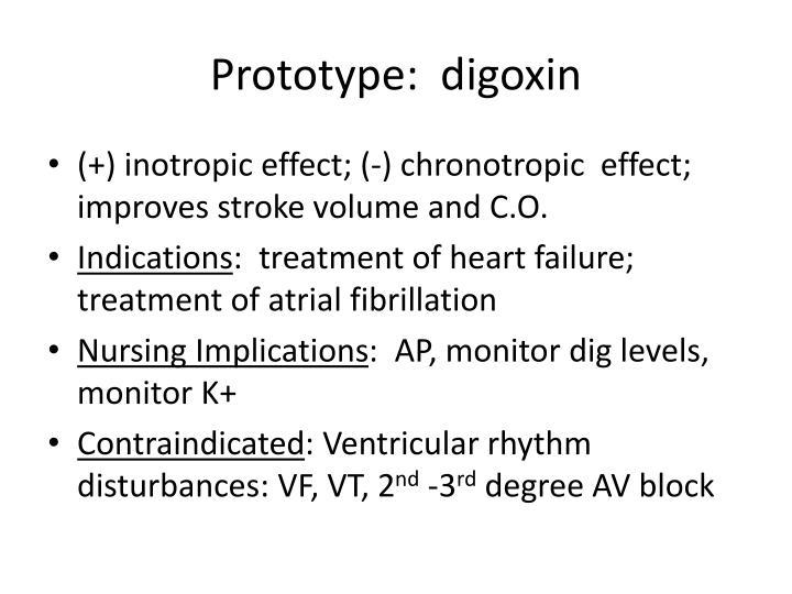 Prototype:  digoxin