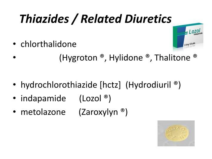 Thiazides