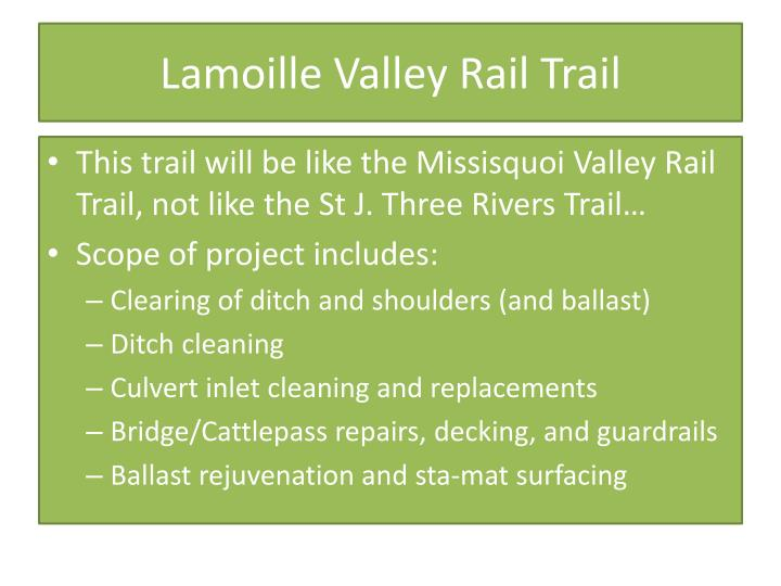 Lamoille Valley Rail Trail