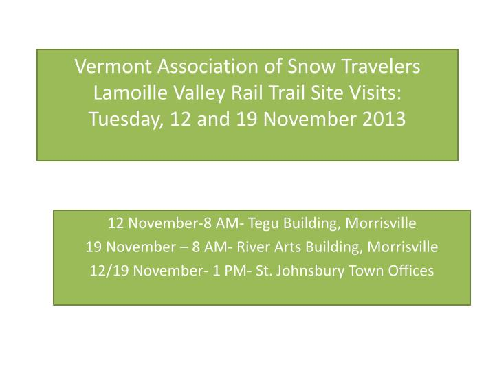 Vermont Association of Snow Travelers