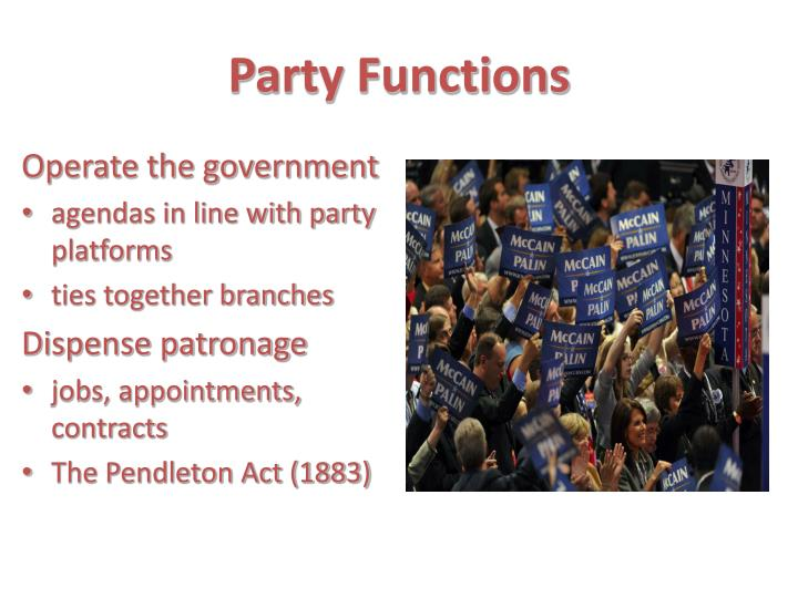 Party Functions