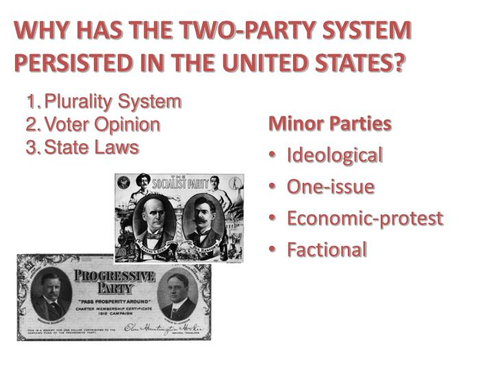 WHY HAS THE TWO-PARTY SYSTEM PERSISTED IN THE UNITED STATES?