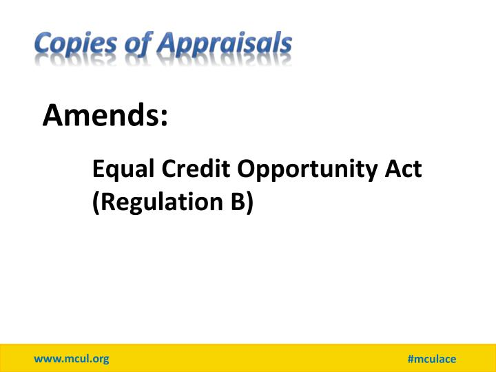 Copies of Appraisals