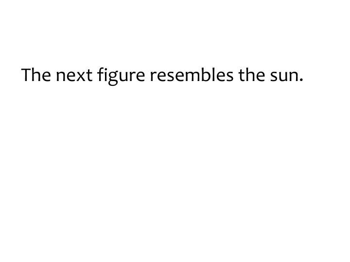 The next figure resembles the sun.