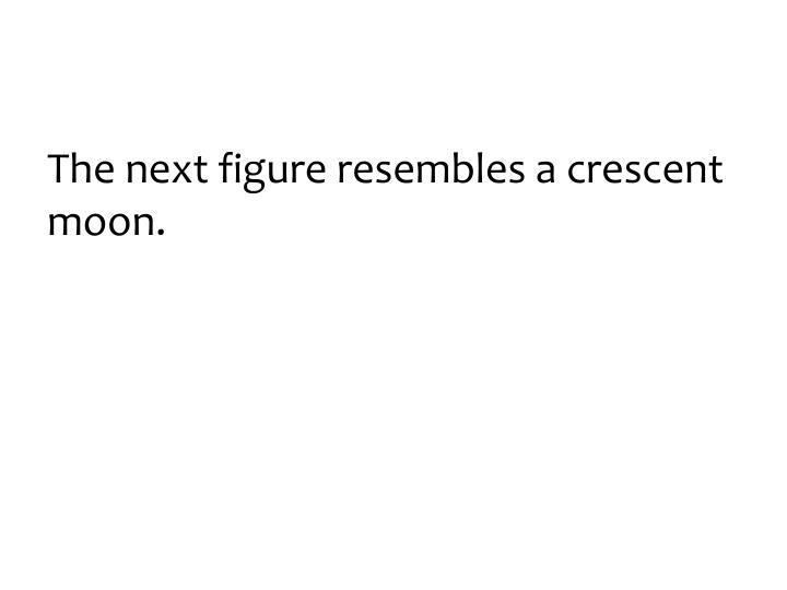 The next figure resembles a crescent moon.