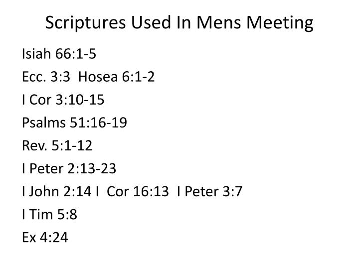 Scriptures Used In