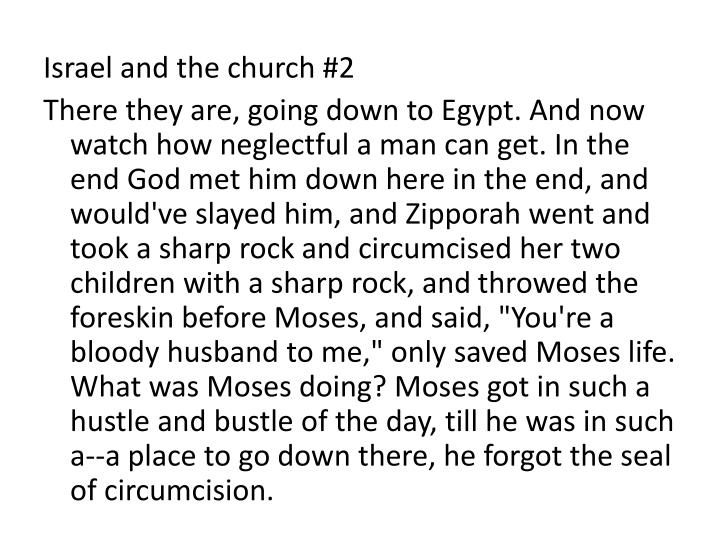 Israel and the church #2