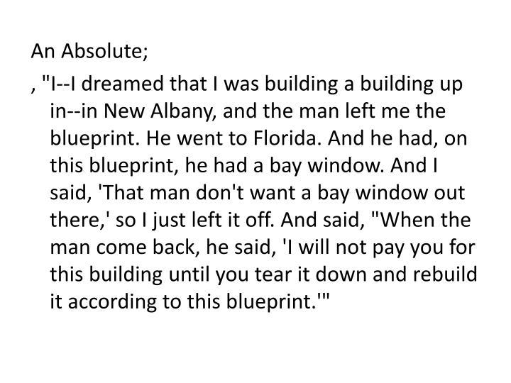 An Absolute;