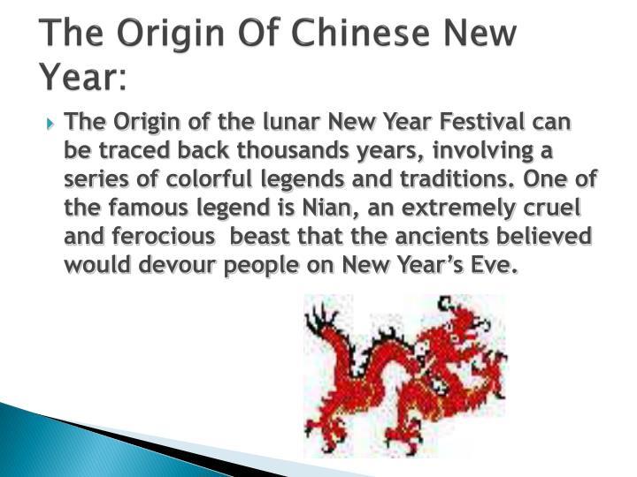 The Origin Of Chinese New Year: