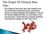 the origin of chinese new year