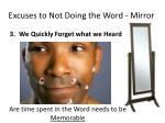 excuses to not doing the word mirror3