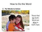 how to do the word1