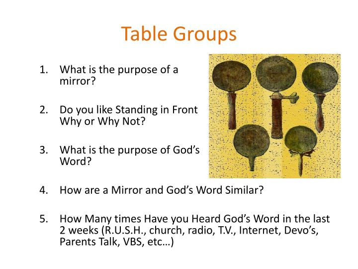 Table Groups