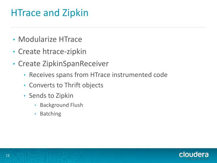 HTrace and Zipkin