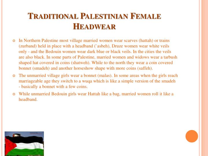 Traditional Palestinian Female Headwear
