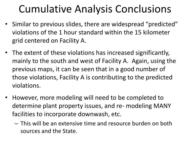 Cumulative Analysis Conclusions