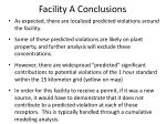 facility a conclusions