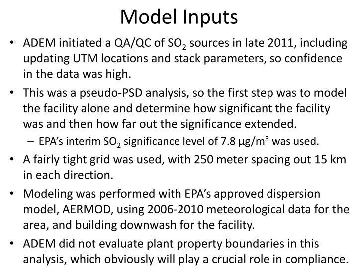Model Inputs