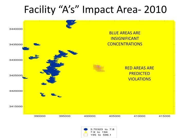 """Facility """"A's"""" Impact Area- 2010"""