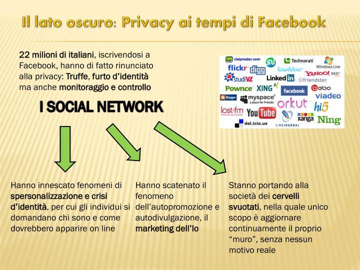 Il lato oscuro: Privacy ai tempi di Facebook