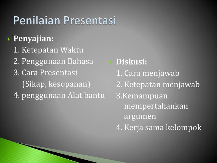 Penilaian Presentasi