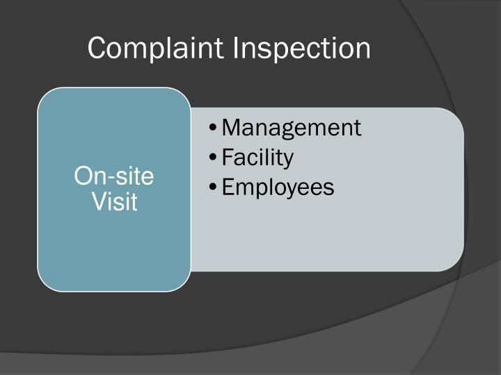 Complaint Inspection