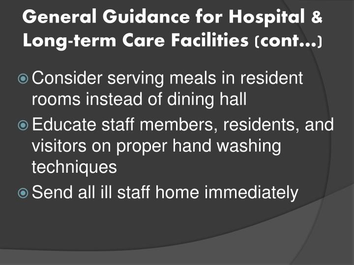 General Guidance for Hospital