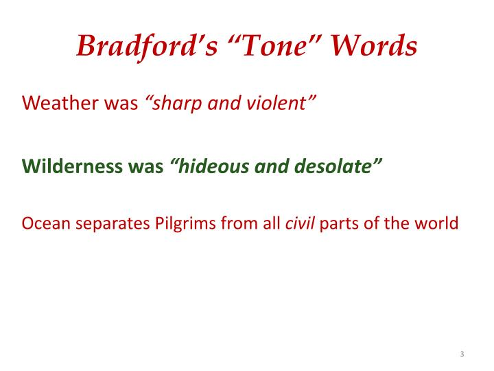 """Bradford's """"Tone"""" Words"""