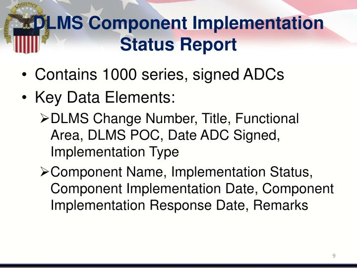 DLMS Component Implementation Status Report