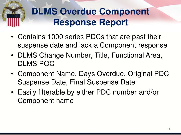 DLMS Overdue Component Response Report