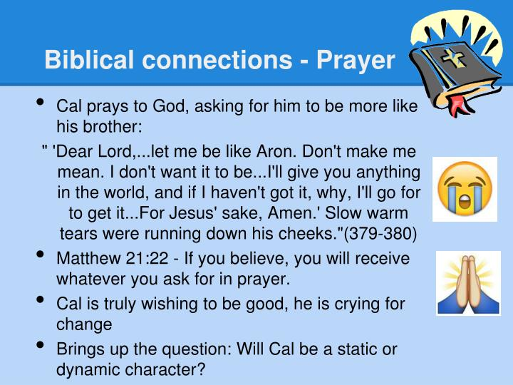Biblical connections - Prayer
