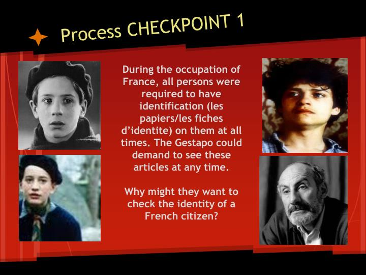 Process CHECKPOINT 1