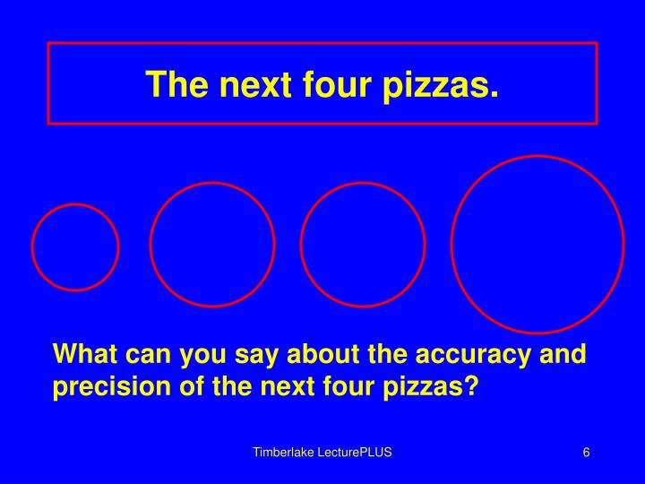 The next four pizzas.