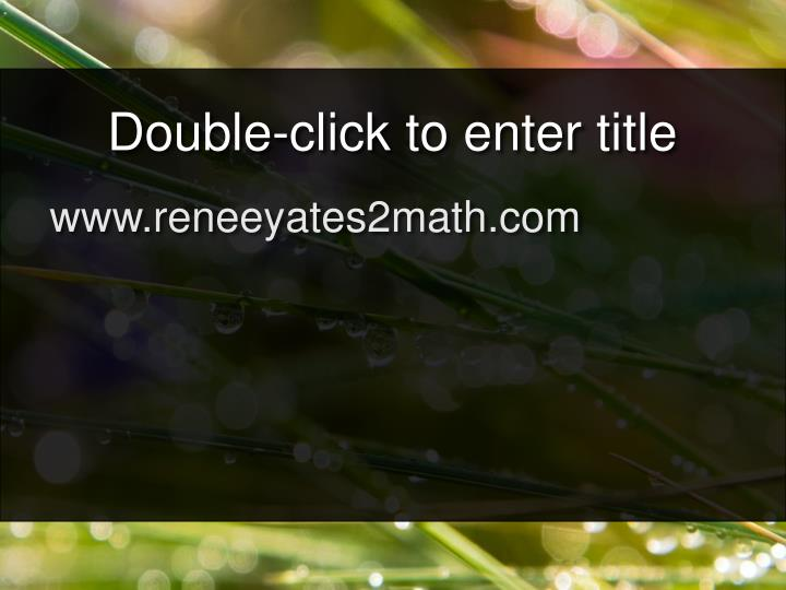 Double-click to enter title